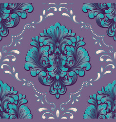 volumetric damask seamless pattern element vector image vector image