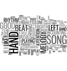 what makes a piece of music a good song text word vector image vector image