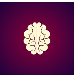 Brain icon Flat style vector image