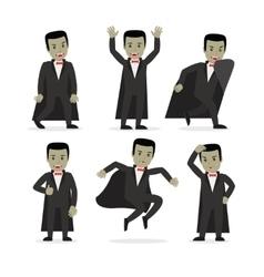 Dracula vampire cartoon character vector image