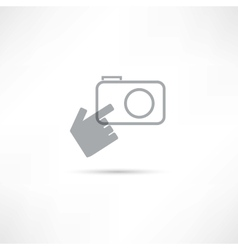 Making photo icon vector image vector image