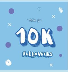 10k followers social media template vector image