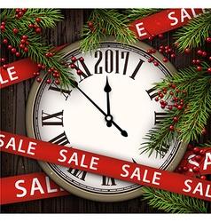 2017 wooden sale background vector