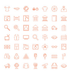 49 view icons vector image