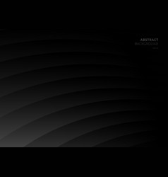 Abstract black and gray curve layer pattern vector