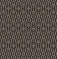 Abstract geometric hexagon seamless pattern vector image