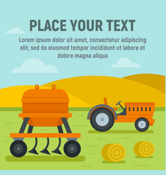 agricultural machine concept background flat vector image