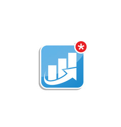 App icon design for trading vector