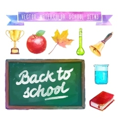 Back to school Watercolor with vector