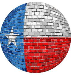 Ball with Texas flag vector image