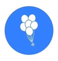 Balloon icon black single gay icon from the big vector
