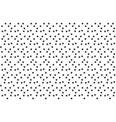 black white scatter dots polka seamless pattern vector image