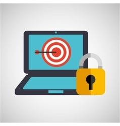 Business strategy technology password protection vector