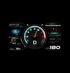 car dash board eps 10 002 vector image