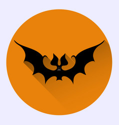 cartoon bat on orange background vector image