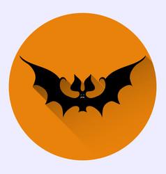 cartoon bat on orange background vector image