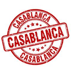 Casablanca red grunge round vintage rubber stamp vector