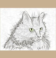 Cat ink vector