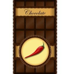 Chili chocolate bar vector