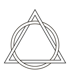 Circle weave triangle tattoo vector