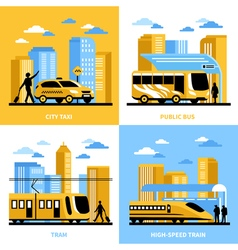 City Transportation 2x2 Design Concept vector image