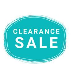 Clearance sale speech bubble banner element vector