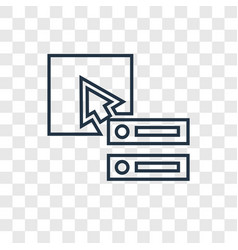 database concept linear icon isolated on vector image