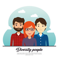 Diversity people concept vector