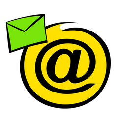 e-mail sign icon icon cartoon vector image