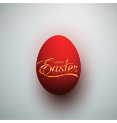 easter egg with holiday lettering vector image
