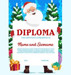 Education school diploma christmas certificate vector