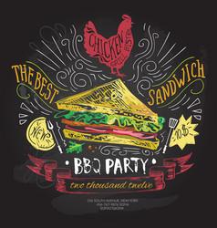 fast food logo design template sandwich vector image