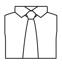 Figure tie with shirt icon vector