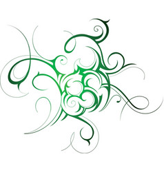 Fine Swirl tattoo vector image