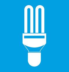 Fluorescence lamp icon white vector