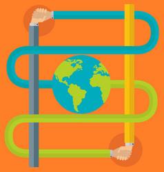 Friendship partnership around world vector