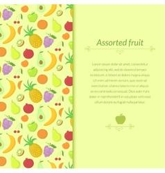 Fruit background vector image