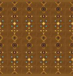 Geometric ethnic seamless pattern vector