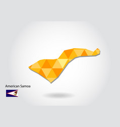 geometric polygonal style map of american samoa vector image