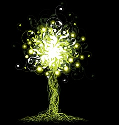 Glowing tree vector