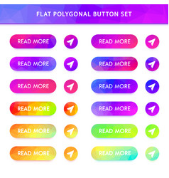 gradient polygonal buttons vector image