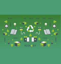 Green energy power electricity website vector