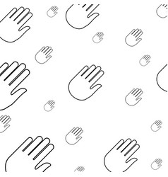 Hand stop symbol pictogram vector