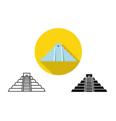 icon of chichen itza in art vector image