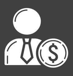 Investor glyph icon business and finance vector