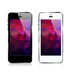 Iphone triangular abstract background vector