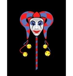 joker mask on a stick vector image