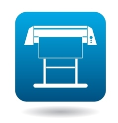 Large format inkjet printer icon in simple style vector