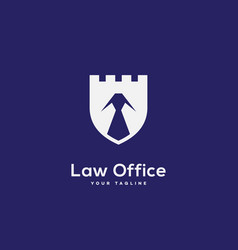 law office logo vector image