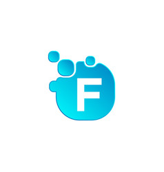 letter f bubble logo template or icon vector image
